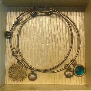 Disney Little Mermaid set for 2 bangle bracelets